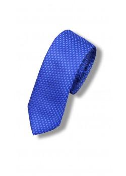 Галстук сине-голубой узкий