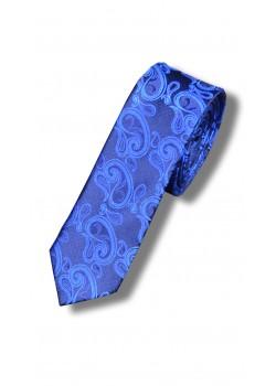 Галстук синий узкий (огурцы)