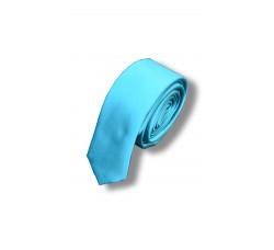 Галстук голубой узкий