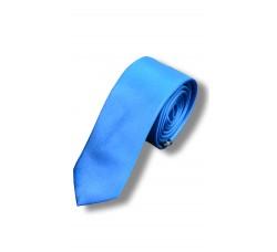 Галстук светло-синий узкий
