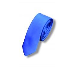 Галстук ярко-синий узкий