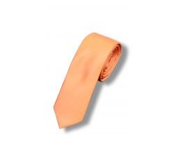 Галстук оранжевый узкий