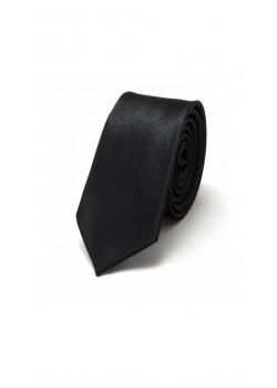 Галстук черный узкий