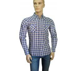 Рубашка Napoly клетка с карманами