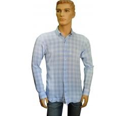 Рубашка Tvain в клетку синяя